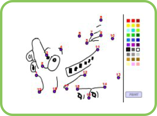 Connect Dots Games At Smarty Games Free Educational Website For Kids